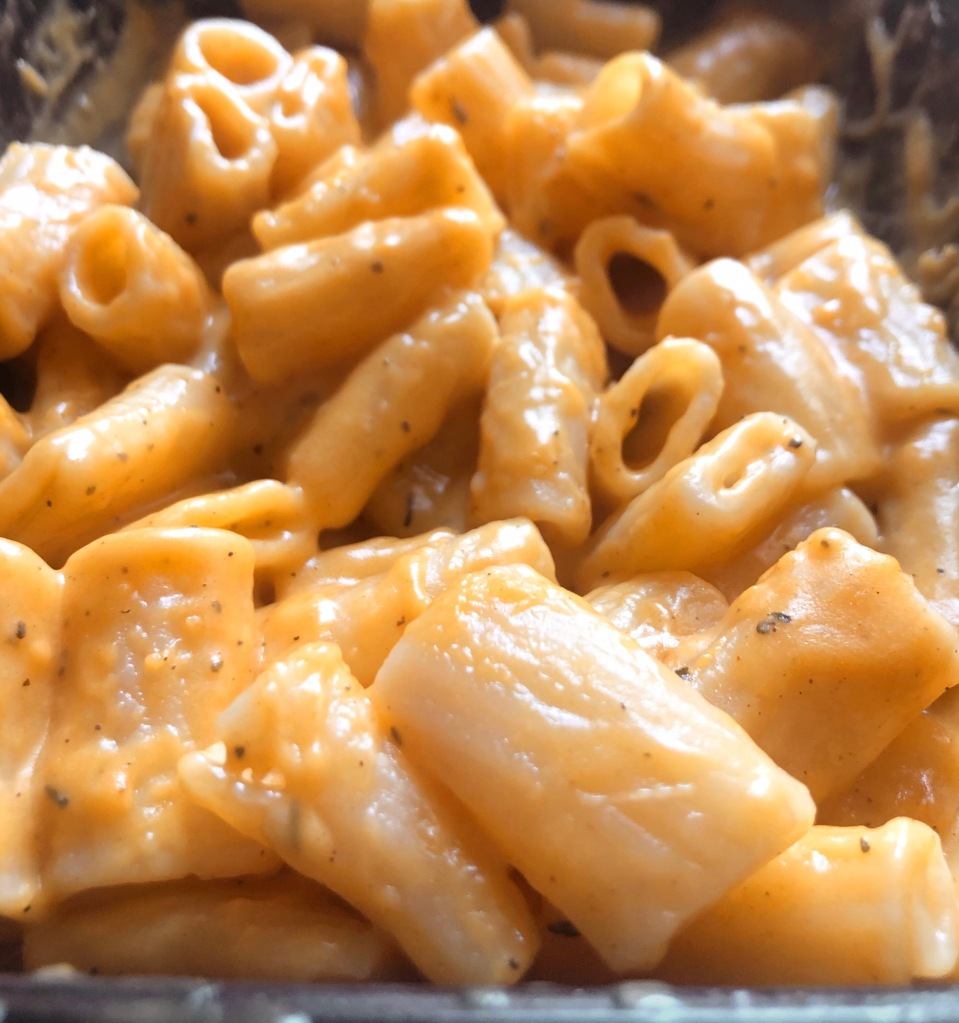 Close-up image of Trader Joe's Butternut Squash Mac & Cheese